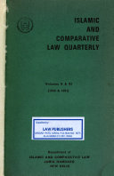 Islamic and Comparative Law Quarterly