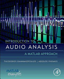 Introduction To Audio Analysis Book PDF