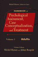 Handbook Of Psychological Assessment Case Conceptualization And Treatment Adults