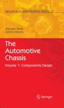 The Automotive Chassis Pdf/ePub eBook
