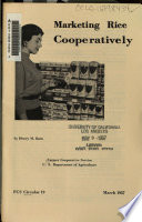 Marketing Rice Cooperatively Book