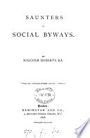 Saunters in social byways Book
