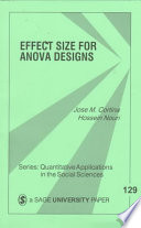 Effect Size For Anova Designs