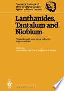 Lanthanides  Tantalum and Niobium Book