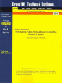 Outlines And Highlights For Introducing Public Administration By Shafritz Russell And Borick Isbn