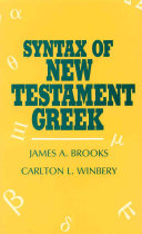 Syntax of New Testament Greek