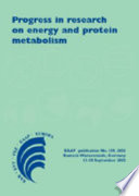 Progress In Research On Energy And Protein Metabolism