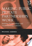 Making Public Private Partnerships Work Book