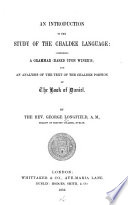 An Introduction to the Study of the Chaldee Language