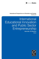 International Educational Innovation and Public Sector Entrepreneurship