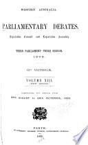 Parliamentary Debates  Legislative Council and Legislative Assembly