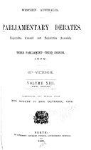 Parliamentary Debates  Legislative Council and Legislative Assembly Book