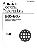 American Doctoral Dissertations Book