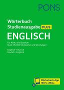 PONS W  rterbuch Studienausgabe Plus Englisch