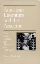 American Literature and the Academy