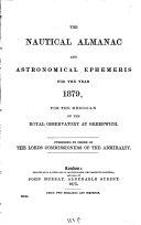 Nautical Almanac and Astronomical Ephemeris0