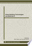 Green Building Technologies and Materials II