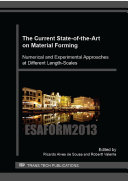 The Current State-of-the-Art on Material Forming Pdf/ePub eBook