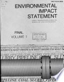 Final Environmental Impact Statement On The Energy Transportation Systems Inc  Coal Slurry Pipeline Transportation Project