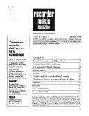 Recorder and Music Magazine