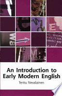 An Introduction to Early Modern English