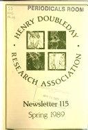 Henry Doubleday Research Association. Newsletter