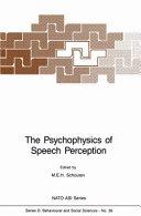 Pdf The Psychophysics of Speech Perception