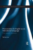 Pronunciation for English as an International Language