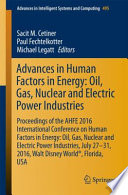 Advances in Human Factors in Energy  Oil  Gas  Nuclear and Electric Power Industries