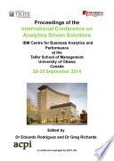 ICAS2014 International Conference on Analytics Driven Solutions Book