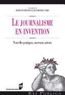 Pdf Le journalisme en invention