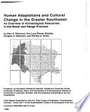 Human Adaptations and Cultural Change in the Greater Southwest