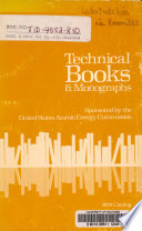 Technical Books & Monographs