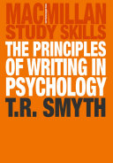 The Principles of Writing in Psychology