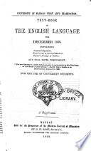Text book in the English Language for December 1869