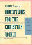 Draper S Book Of Quotations For The Christian World