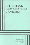 Sheridan, Or, Schooled in Scandal