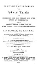 Pdf A Complete Collection of State Trials and Proceedings for High Treason and Other Crimes and Misdemeanors from the Earliest Period to the Year 1820. (etc.)