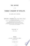 The History of the Norman Conquest of England  Index volume
