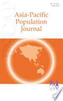 Asia Pacific Population Journal Vol 26 No 1 March 2011