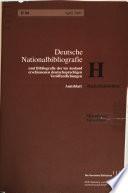 Deutsche Nationalbibliografie und Bibliografie der im Ausland erschienenen deutschsprachigen Veröffentlichungen
