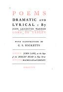 Poems Dramatic and Lyrical