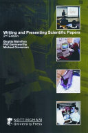 Writing And Presenting Scientific Papers Book PDF