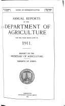 Annual Reports Of The Department Of Agriculture 1911 Book PDF