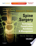 """Spine Surgery 2-Vol Set E-Book: Techniques, Complication Avoidance, and Management (Expert Consult Online)"" by Edward C. Benzel"