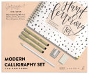 Modern Calligraphy Set for Beginners Book