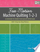 Free Motion Machine Quilting 1 2 3