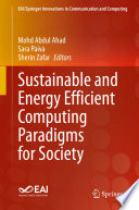 Sustainable And Energy Efficient Computing Paradigms For Society Book PDF