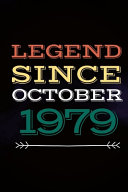 Legend Since October 1979   Gift for a Legend Born in October