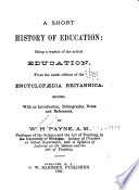 A Short History of Education Book